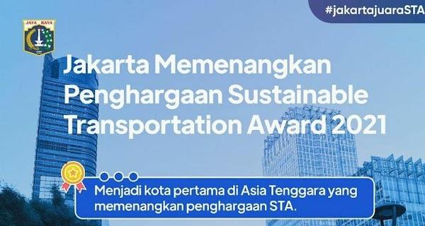 Kota Pertama di Asia Tenggara, Jakarta Juarai Sustainable Transport Award
