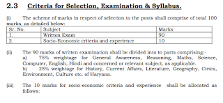 Exam Pattern and Syllabus for HSSC ITI Chargemen Mechanica, Operator, Welder Jobs