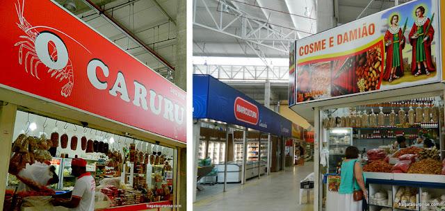 Boxes de ingredientes para preparação de caruru, Ceasinha de Salvador