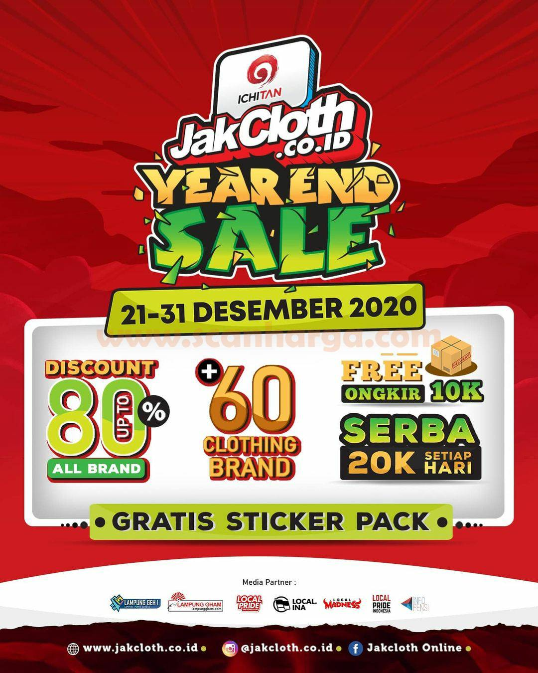 Promo Jakcloth YEAR END SALE – Disc. Up to 80% Off + GRATIS STICKER PACK*