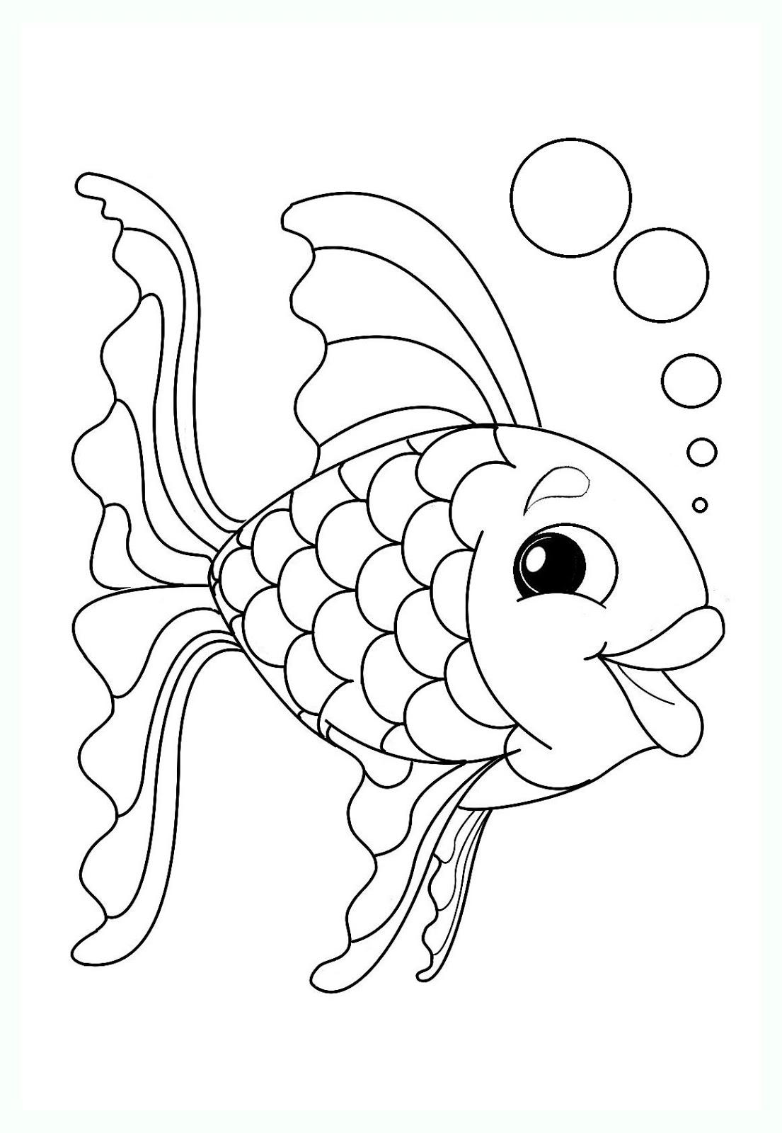 Tranh tô màu con cá cute