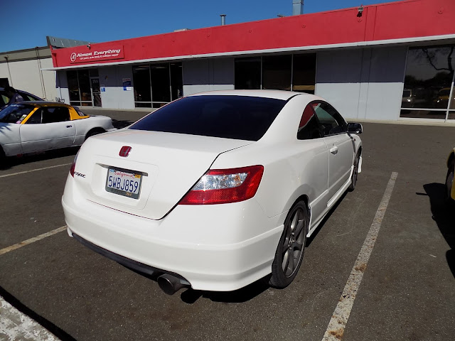 Honda Civic Si after respray at Almost Everything Auto Body.
