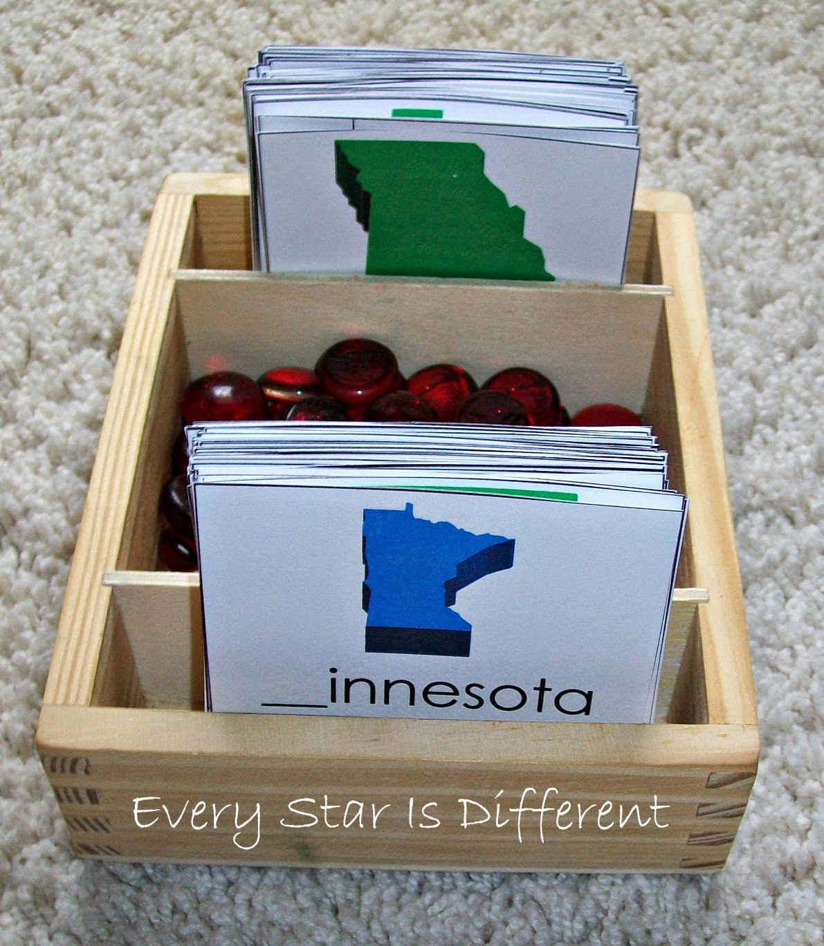 United States of America First Letter Identification (Free Printable)