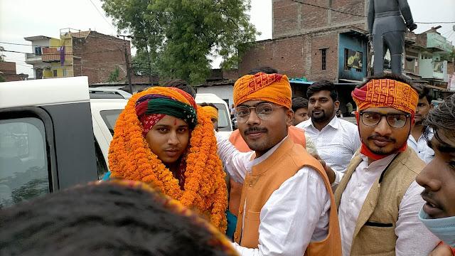 राज्यपाल के निजी सहायक विशाल सिंह का हुआ जोरदार स्वागत | #NayaSaveraNetwork