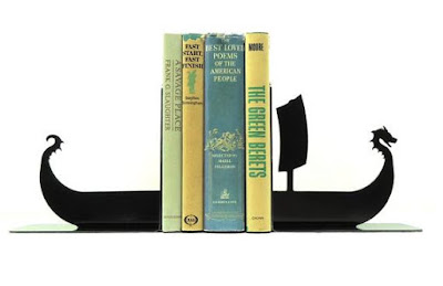Viking Ship Bookends