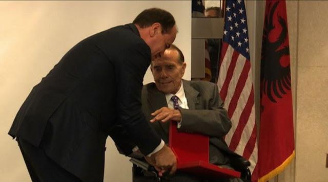 Albanian President Nishani honors former Senator Bob Dole