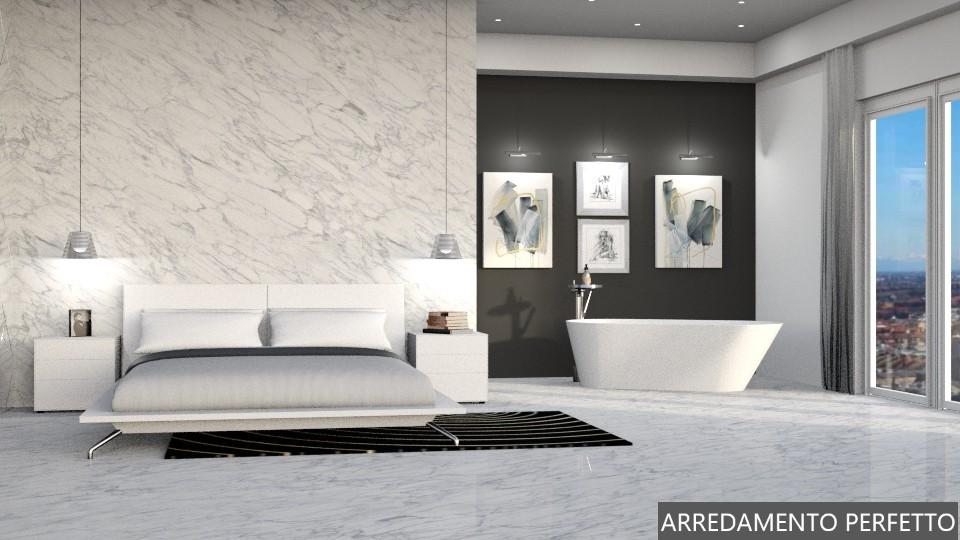 Soluzione di design per realizzare un bagno in camera con vasca in camera