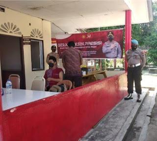 Polsek Dabo Singkep Bersama Puskesmas Dabo Lama Menggelar Vaksinasi Pelajar Usia 12 Hingga 17 tahun