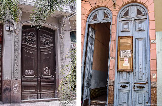 Fachadas da Cidade Velha de Montevidéu