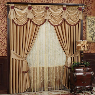 luxury class double window curtain ideas with rods and sheer fabrics