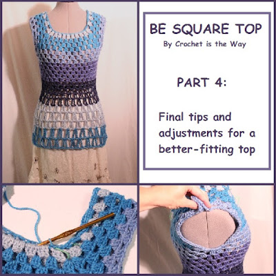 tutorial, pattern, free, tank top, blouse, shirt, lace, granny square, crochet, how to, easy, Be Square Top