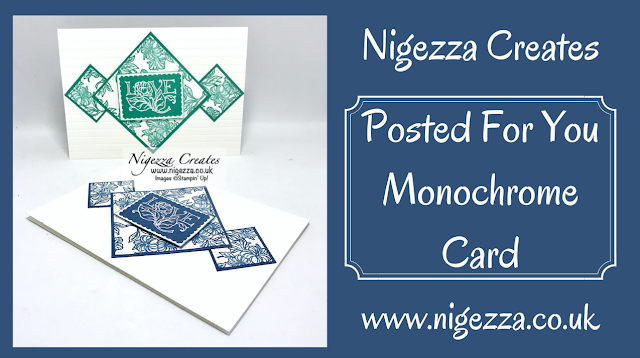 Nigezza Creates with Stampin' Up! Posted For You Monochrome card
