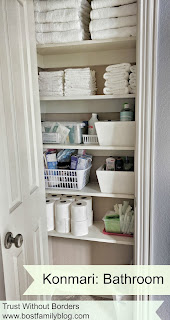 organizing bathroom/linen closet/drawers