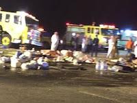 Innalillahi, Mengerikan! Ini Video Kecelakaan Rombongan Umroh di Arab Saudi