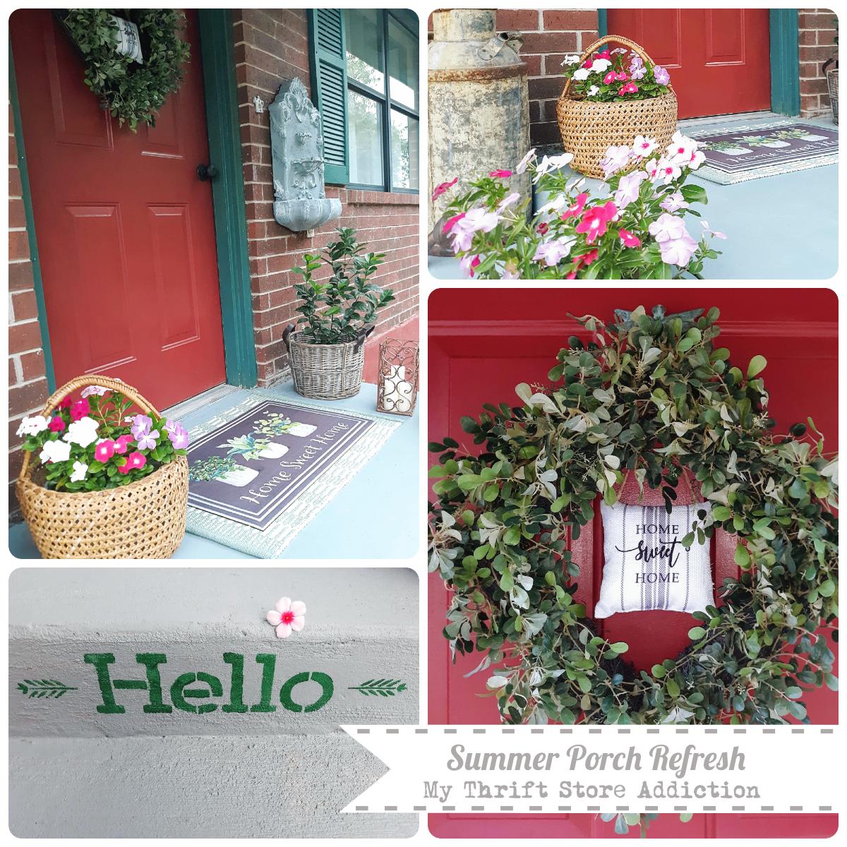 Summer porch refresh