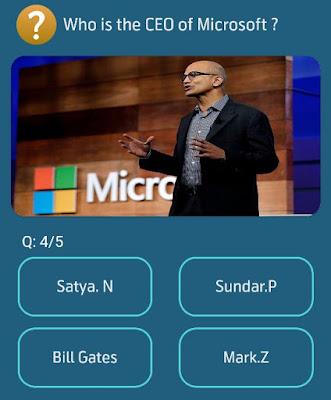 Who is the CEO of Microsoft?