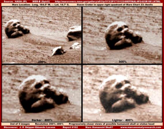 Tengkorak Manusia DItemukan Di Planet Mars?