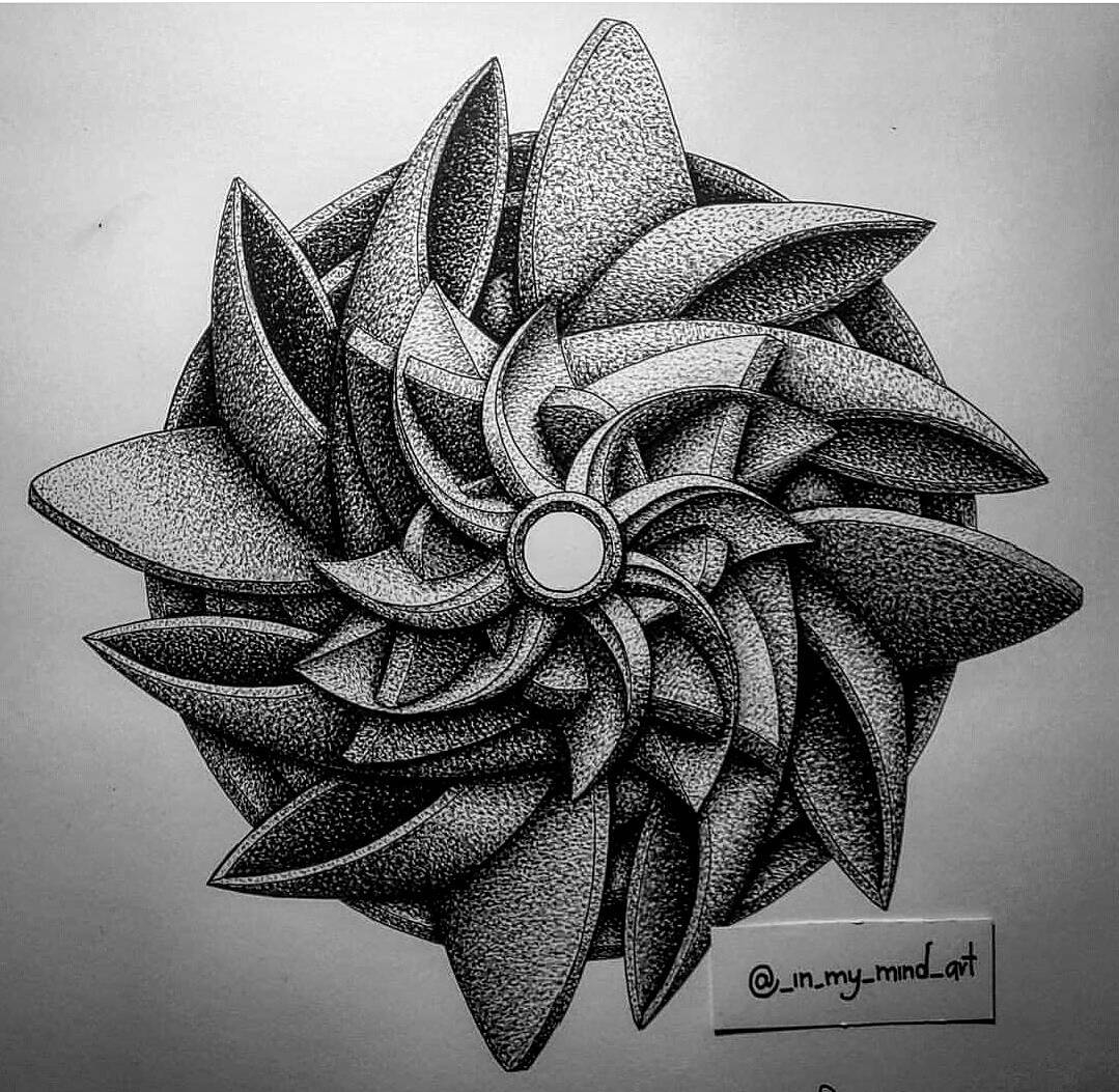 03-in-my-mind-art-Complex-Geometric-shapes-in-Ink-Stippling-Drawings-www-designstack-co