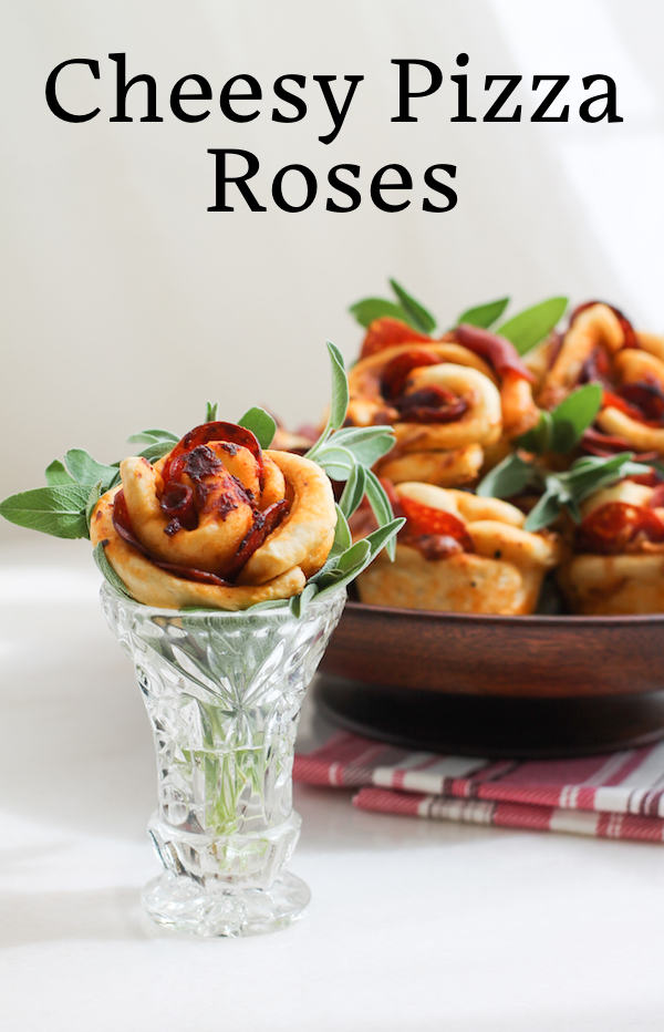 Food Lust People Love: Cheesy pizza roses are the perfect Mother's Day breakfast (or gift!) for moms who are fans of savory pepperoni pizza. After all, who doesn't love fresh baked bread rolls? #BreadBakers