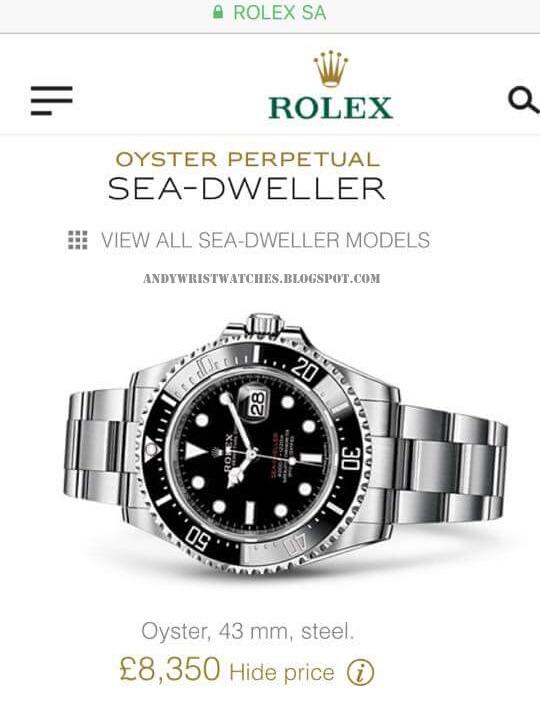 C-segment Wrist Watches: Rolex Baselworld 2017 : Sea