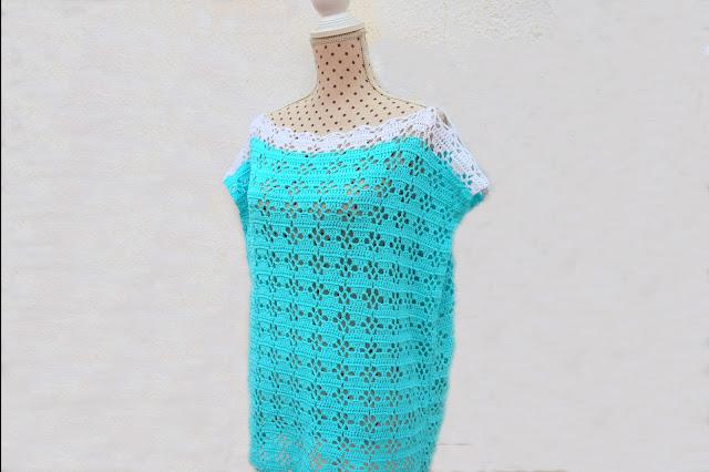 1 - Imagenes Crochet Blusa túnica playera a crochet facil sencilla paso a paso por Majovel Crochet