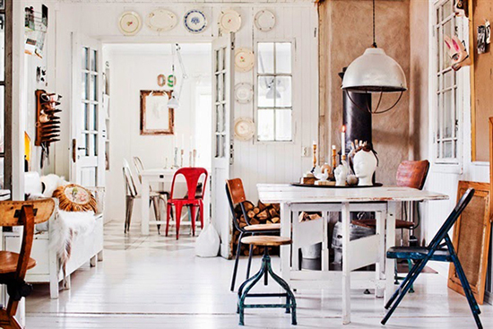 vintage scandinavian interior