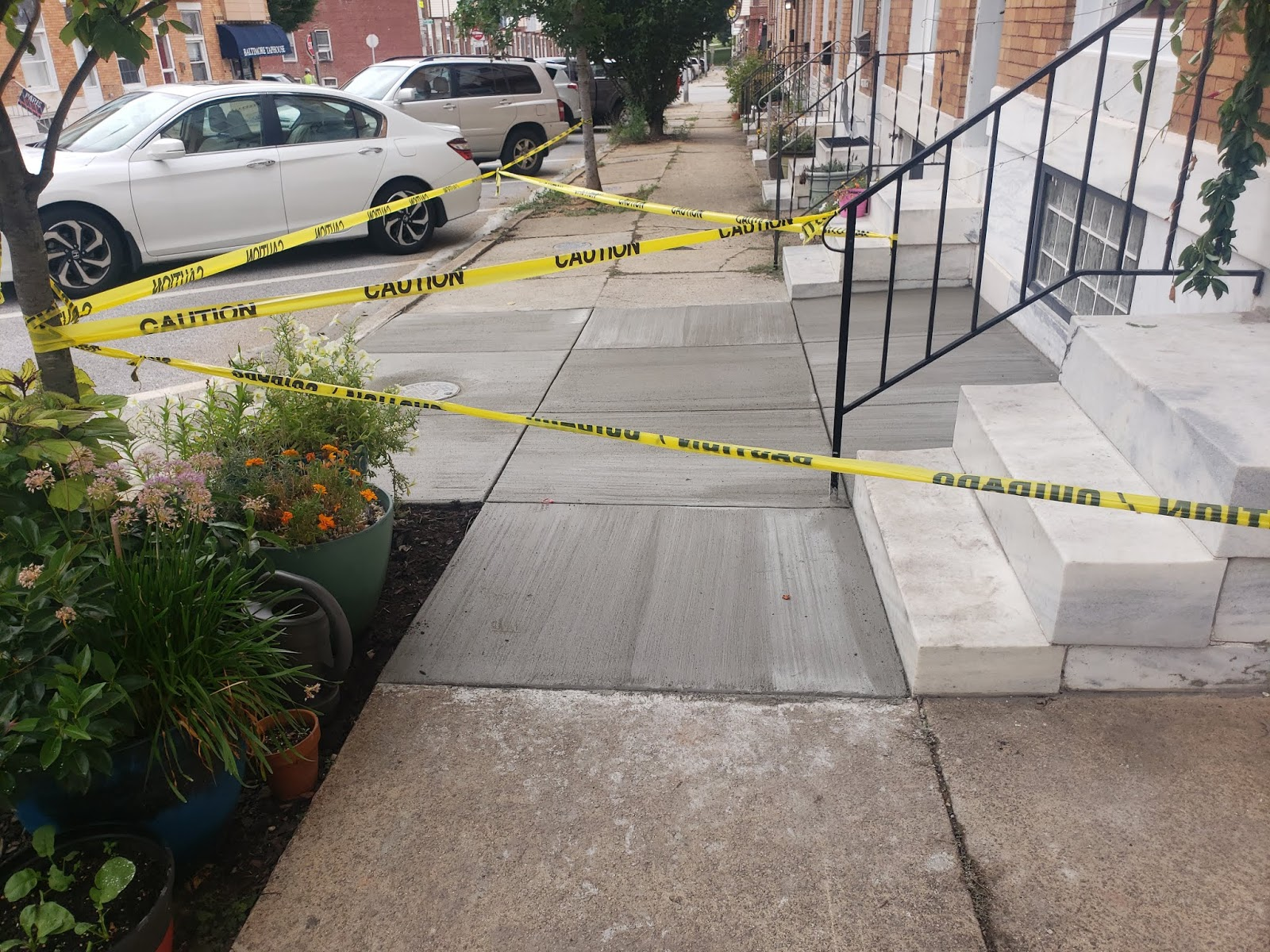 Custom Stoneworks & Design Inc : New concrete sidewalk in