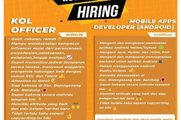 Lowongan Kerja Mobile Apps Developer CV Pelita Abadi Solusindo