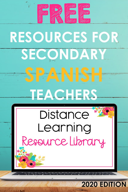 Back to School Spanish Class Resource Library full of FREE digital resources - shared by Mis Clases Locas
