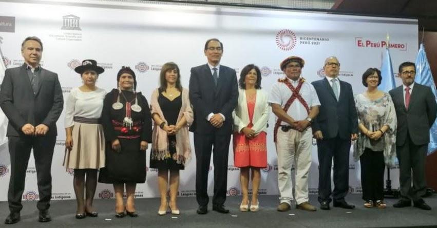 Gobierno protegerá las 48 lenguas indígenas del país, sostuvo el Presidente Vizcarra
