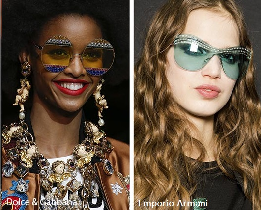 8a949eb198e6 Dolce   Gabbana have really stunned with these yellow round glasses adorned  with colored rhinestones. Instead