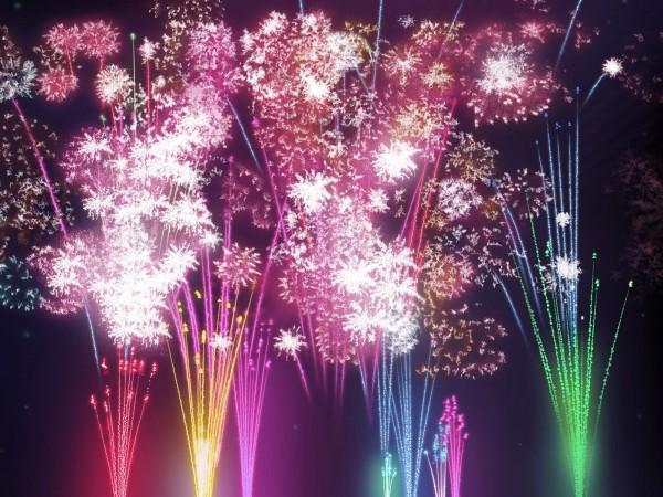 Digital CG festival firework