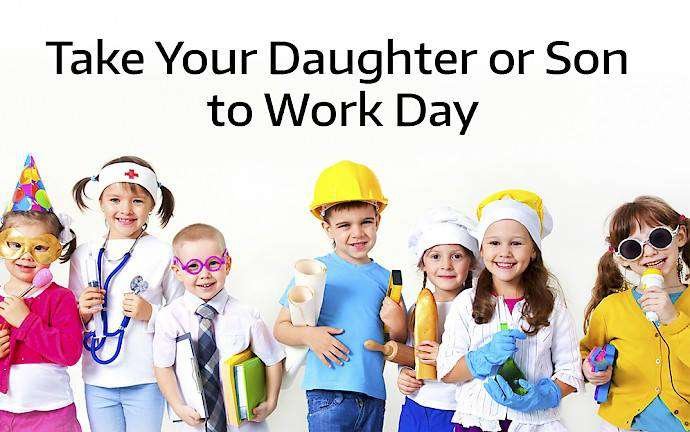 Take Our Daughters and Sons to Work Day Wishes for Whatsapp