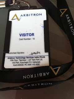 A visitor lanyard from a once well known company.