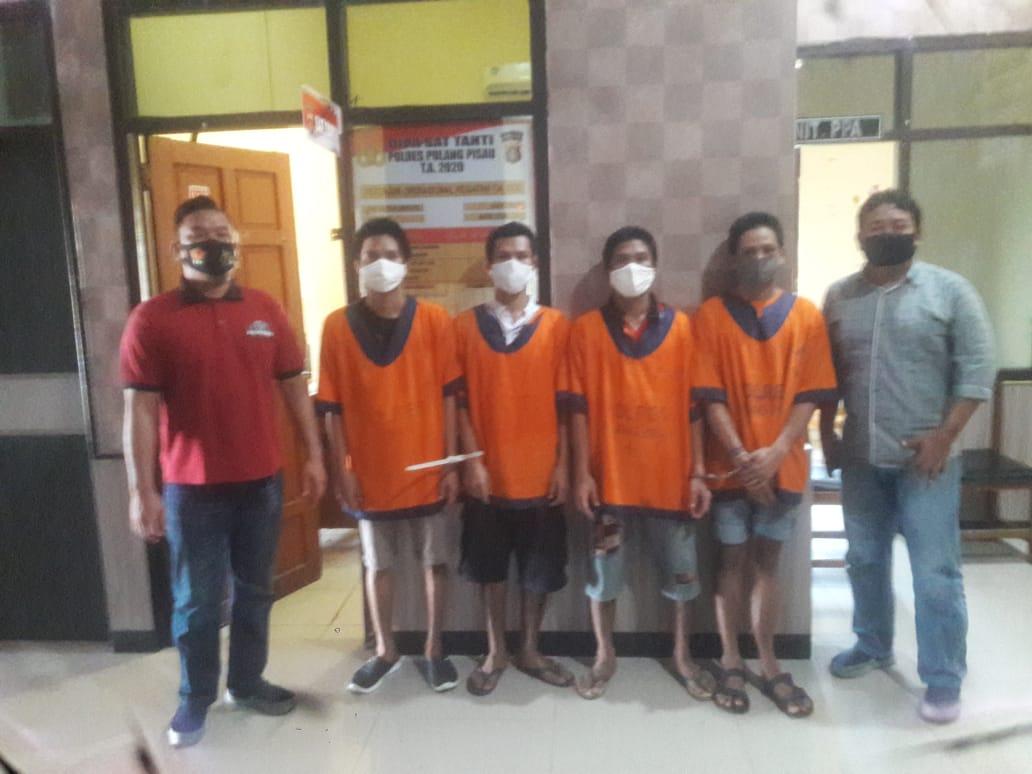 Polsek Sebangau Kuala Limpahkan Perkara Tiga Pencuri Belasan Laptop ke Kejaksaan