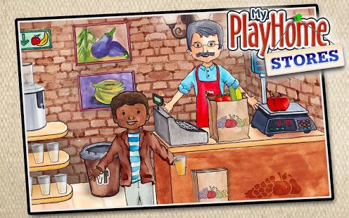 """تحميل ماي بلاي هوم السوق للايفون. تتيح """"متاجر PlayHome الخاصة بي"""" لطفلك استكشاف عالم اللعب المفتوح ومتجر اللعب دون إحداث فوضى في منزلك!"""