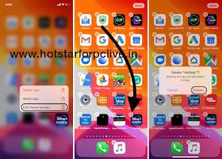 Delete Hotstar App In iOS