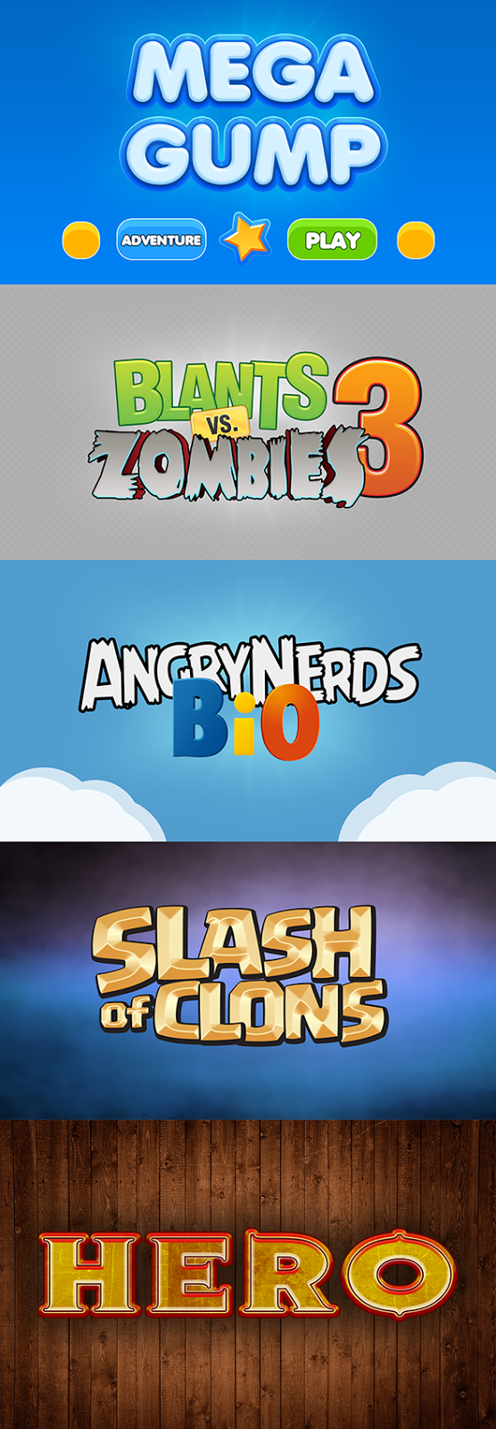 Popular Game Text Effects PSD