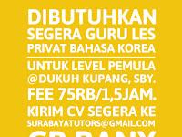 lowongan kerja Guru Les Private bahasa korea di surabaya