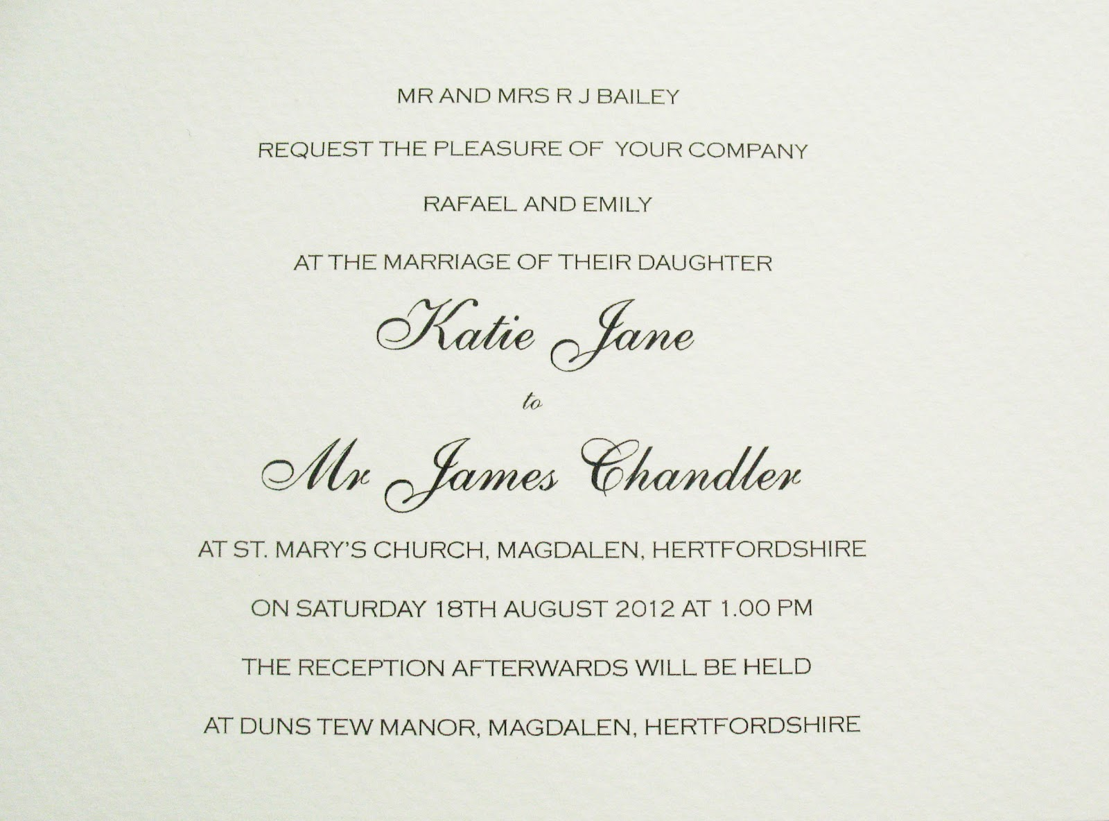 Sample Of A Wedding Invitation: Inspiration For Weddings, Invitations And Stationery