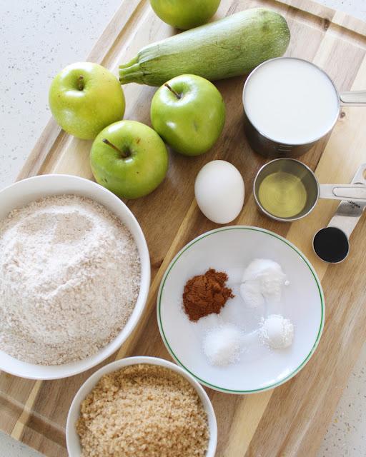 Muffins de Manzana Verde y Calabacita
