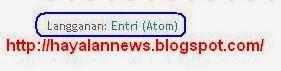 Cara menghilangkan link langgana entri atom pada blog
