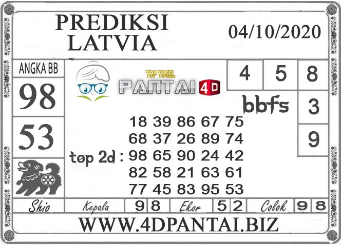 PREDIKSI TOGEL LATVIA PANTAI4D 04 OKTOBER 2020