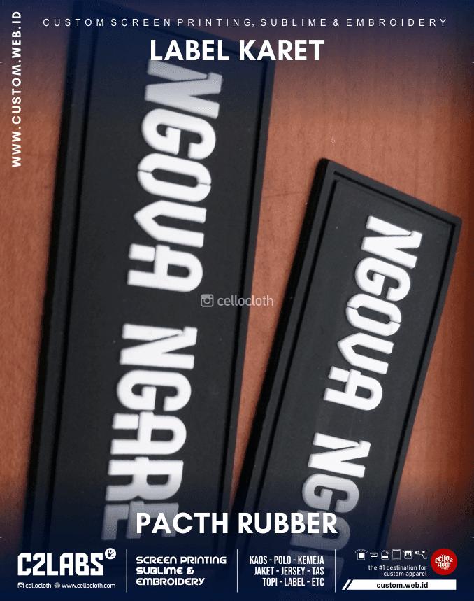 Custom Label Karet Pacth Rubber Jogja