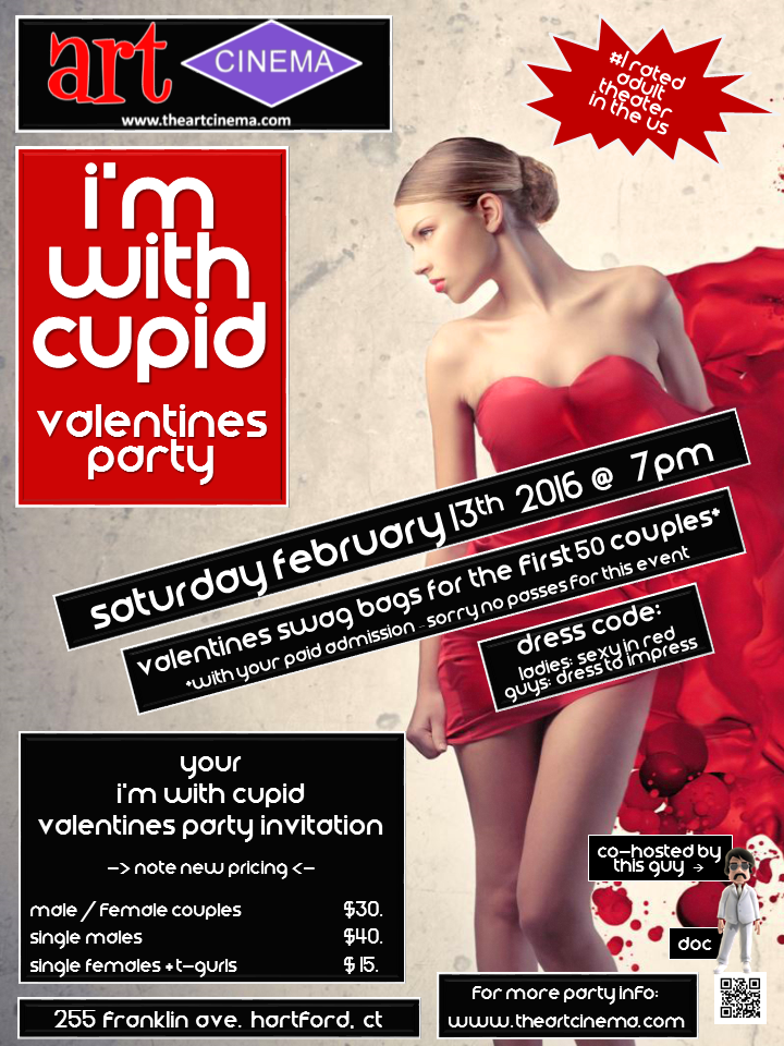 I'm with Cupid Valentines Party at The Art Cinema in Hartford