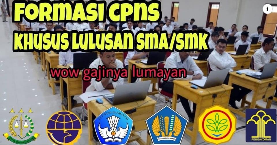 Daftar Formasi CPNS untuk Lulusan SMA/SMK: Basarnas, Kemenhub, Kejaksaan RI, Kementerian ESDM
