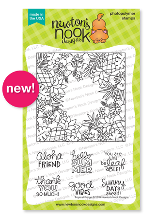 Tropical Fringe | Tropical Stamp Set by Newton's Nook Designs #newtonsnook