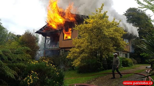 Incendio en Ruta U55