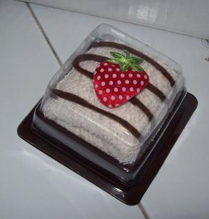 towel strawberry cake