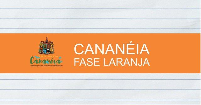Cananéia entra na fase laranja do Covid19